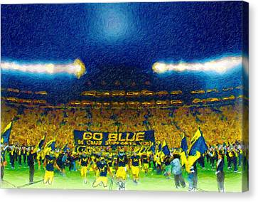 Wide Receiver Canvas Print - Glory At The Big House by John Farr