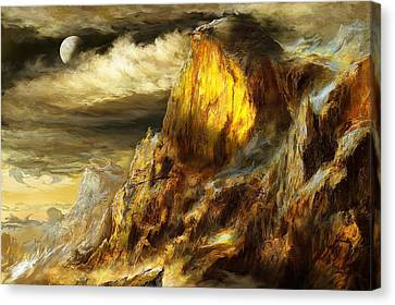Glory Mountains Canvas Print by Ernest Tang
