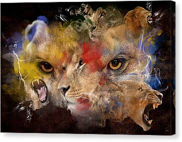Glory Of The Beast Canvas Print by Davina Washington
