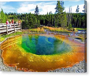 Glory Pool Yellowstone National Park Canvas Print