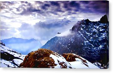 Canvas Print featuring the painting Glory by Steven Richardson