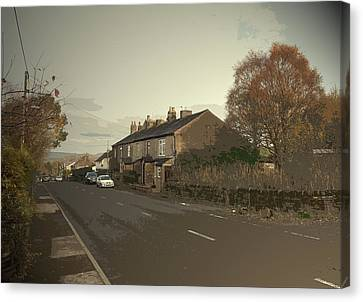 Glossop Road In Charlesworth, The A626 Road Seen Here Canvas Print