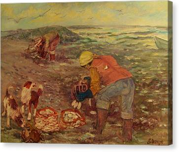 Gloucester Clam Diggers Canvas Print