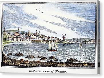 Gloucester Harbor, 1844 Canvas Print by Granger