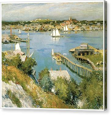Gloucester Harbour Canvas Print by William Leroy Metcalf