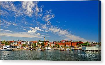 Gloucester Massachusetts Canvas Print by Charles Dobbs