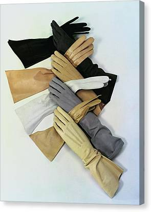Large Group Of Objects Canvas Print - Gloves by Erwin Blumenfeld