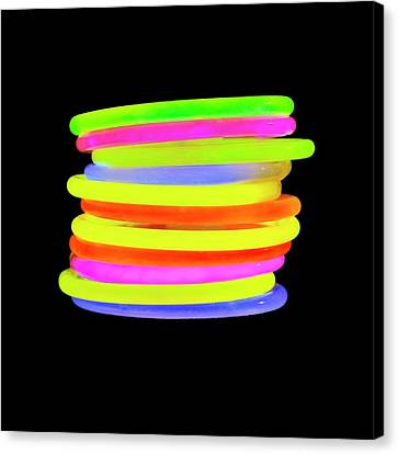 Glow Bracelets Canvas Print by Science Photo Library