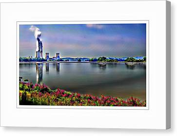 Glowing 3 Mile Island Canvas Print