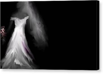 Glowing Bride Canvas Print by Jessica Wright