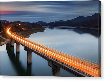 Glowing Bridge Canvas Print by Evgeni Dinev