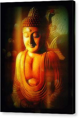 Glowing Buddha Canvas Print by Paul Cutright
