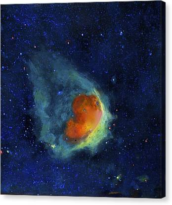 Glowing Emerald Nebula Canvas Print by Jim Ellis