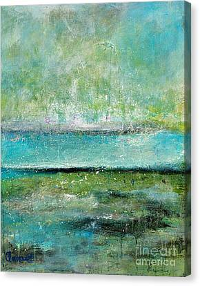 Glowing Even When It's Raining Canvas Print by Johane Amirault