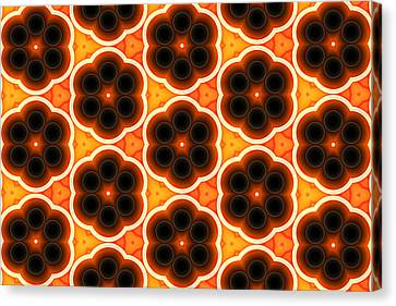 Glowing Floral Pattern Canvas Print