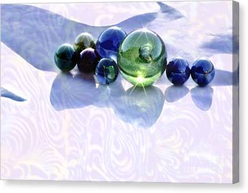 Canvas Print featuring the photograph Glowing Marbles by Cynthia Lagoudakis