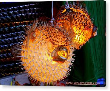 Glowing Pufferfish Canvas Print