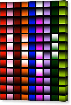 Canvas Print featuring the digital art Glowing Squares  by Gayle Price Thomas