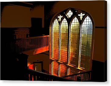 Glowing Stairs Canvas Print by Rhys Arithson