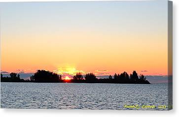 Canvas Print featuring the photograph Glowing Sunset by Richard Zentner