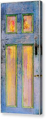 Glowing Through Door Canvas Print by Asha Carolyn Young
