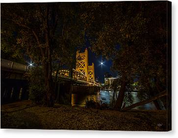 Old Sacramento Canvas Print - Glowing Towers by Everet Regal