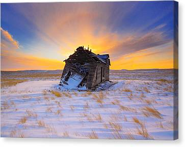 Canvas Print featuring the photograph Glowing Winter by Kadek Susanto