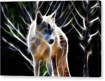Glowing Wolf Canvas Print by Shane Bechler