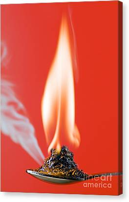 Glucose Combustion Canvas Print by Martyn F. Chillmaid