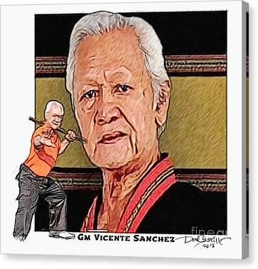 Gm Vicente Sanchez Canvas Print by Donald Castillo