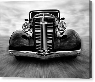Gmc On The Move Canvas Print