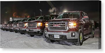 Gmc Prudhoe Bay Canvas Print by Sam Amato