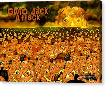 Gmo Jack Attack Canvas Print by Carol Jacobs