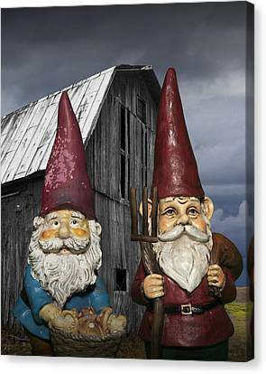 Kitschy Canvas Print - Gnome Gothic by Randall Nyhof
