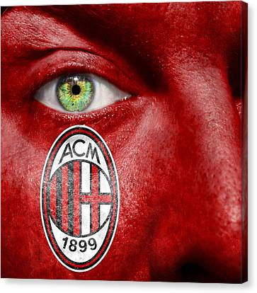 Go Ac Milan Canvas Print by Semmick Photo