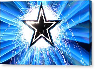 Go Cowboys Canvas Print by Andrew Nourse