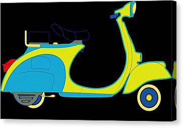 Go Go Scooter Canvas Print by Florian Rodarte