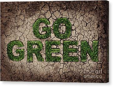 Labelled Canvas Print - Go Green by Jelena Jovanovic