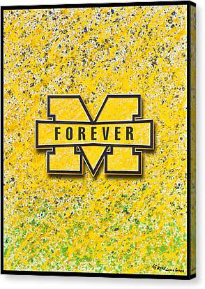Go Michigan Canvas Print by Lance Graves