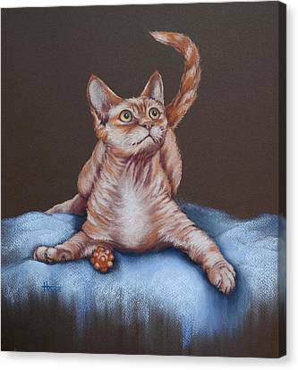 Canvas Print featuring the painting Go On Throw It Again by Cynthia House