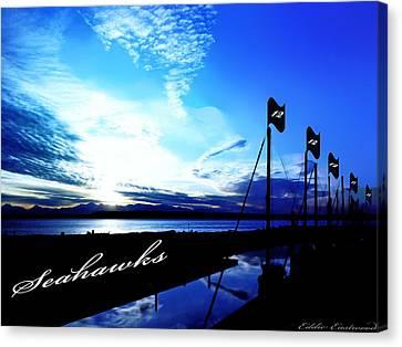 Go Seahawks Canvas Print by Eddie Eastwood