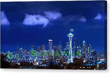 Go Seahawks Canvas Print by Lori Grimmett