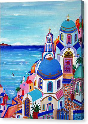 go to Santorini now Canvas Print by Roberto Gagliardi