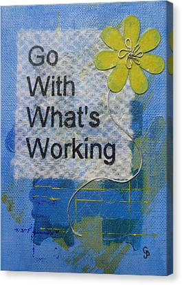 Go With What's Working - 2 Canvas Print by Gillian Pearce
