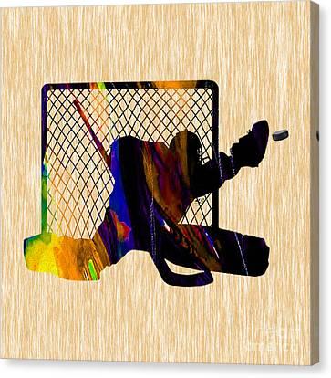 Goalie Canvas Print by Marvin Blaine