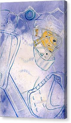 Goalie Missed Canvas Print by Rosemary Hayes