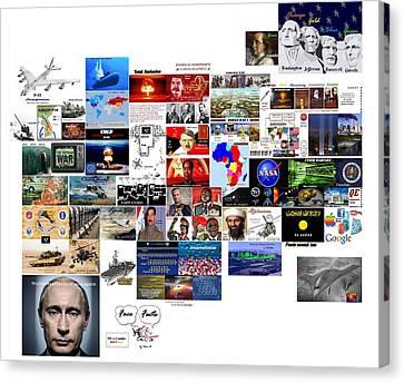 Goal Post Putin Canvas Print by Peter Hedding