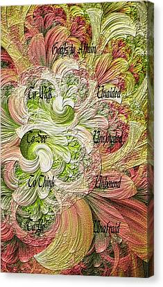 Canvas Print featuring the digital art Goals To Attain by Lea Wiggins
