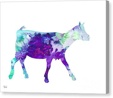 Goat 2 Canvas Print by Watercolor Girl