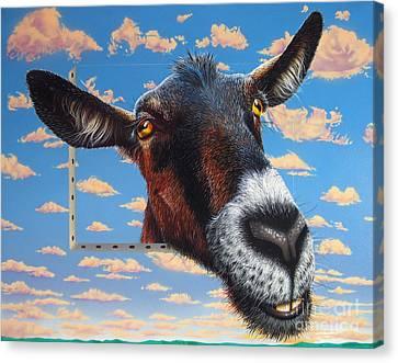Goat A La Magritte Canvas Print